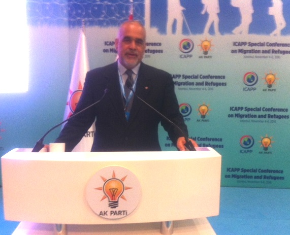 RAFFI HOVANNISIAN IN ISTANBUL: Addresses Conference of Asian Parties